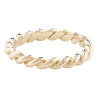 London Road 9Ct Gold Stacking Rope Ring N Yellow Gold