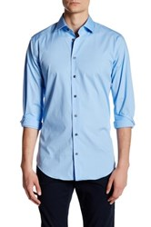 14Th And Union Solid Trim Fit Dress Shirt Blue