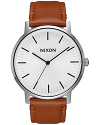 Nixon Porter Leather With White Sunray
