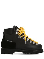 Proenza Schouler 30Mm Leather Trekking Ankle Boots Black