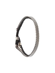 Title Of Work Braided Mesh Band Bracelet Metallic