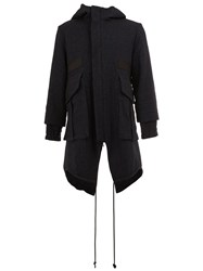 Song For The Mute Zip Up Hooded Coat Blue