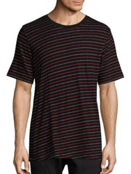 Rag And Bone Striped Colin T Shirt Black Red
