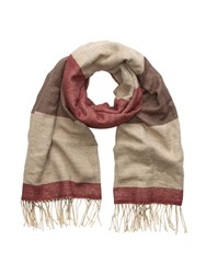 Phase Eight Elly Colourblock Scarf Neutral