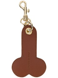 J.W.Anderson Phallic Keyring Calf Leather Brown