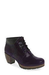 Wolky Women's 'Jacquerie' Lace Up Bootie Purple Dessin Suede