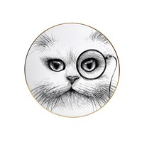 Rory Dobner Perfect Plates Cat With Monocle Medium