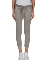 James Perse Standard Trousers 3 4 Length Trousers Women Grey