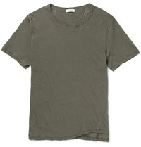 Valentino Slim Fit Studded Cotton Jersey T Shirt Green