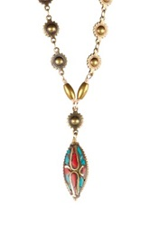 Mariechavez Bohemian Pendant Necklace Multi