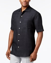 Tommy Bahama Men's Big Bossa Textured Linen Shirt Black