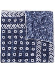 Brunello Cucinelli Abstract Pattern Scarf Blue