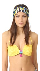 Eugenia Kim Natalia Turban Headband Blue Yellow