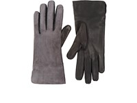 Barneys New York Women's Suede And Nappa Leather Gloves Grey Black