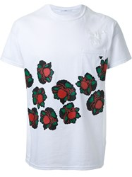 Toga Floral Print Pocket Detail T Shirt White