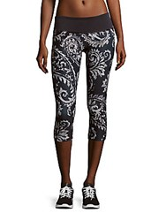 Prismsport Printed Pull On Capri Pants Scroll