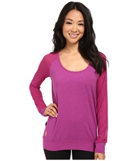 Lole Orchid Top Passiflora Women's Long Sleeve Pullover Purple