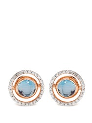 Marie Mas Diamond Amethyst Topaz And Pink Gold Earrings