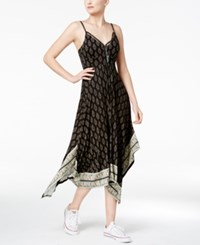 American Rag Summer Nights Printed Handkerchief Hem Dress Only At Macy's Classic Black