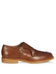 Brunello Cucinelli Monk Strap Leather Shoes
