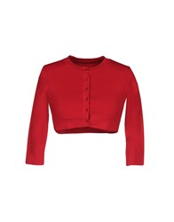 Alaia Wrap Cardigans Red