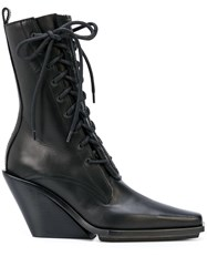 Ann Demeulemeester Pointed Lace Up Ankle Boots 60