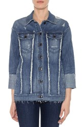 Joe's Jeans Women's Collector's Edition Belize Deconstructed Denim Jacket