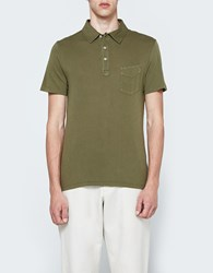 Officine Generale Bd Polo Ss Ultra Light Jersey Faded Olive
