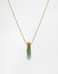 Love Bullets Lovebullets Green Crystal Necklace Gold