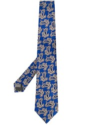 Canali Paisley Tie Blue