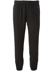 Joie Gathered Ankle Cropped Trousers Black
