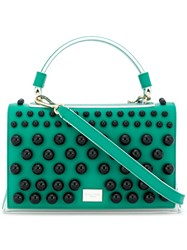Emilio Pucci Embellished Colour Block Satchel Green