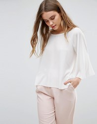 Traffic People Bell Sleeve Top White