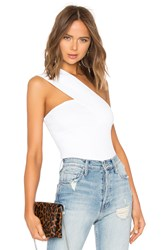 Autumn Cashmere One Shoulder Tube Top White