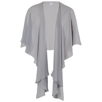 Chesca Chiffon Shawl Silver Grey