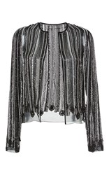 Giambattista Valli Hand Beaded Evening Jacket Black