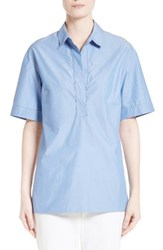 St. John Women's Collection Chambray And Silk Shirt