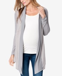 Splendid Maternity Open Front Cardigan Mineral Grey