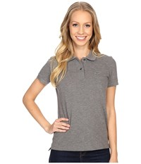 Lacoste Short Sleeve Classic Fit Pique Polo Shirt Stone Grey Women's Short Sleeve Knit Gray