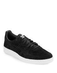 Asics Suede Lace Up Unisex Sneakers Black