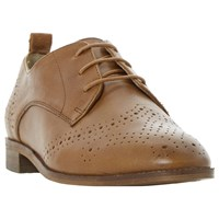 Dune Foster Lace Up Leather Brogues Tan