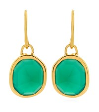Monica Vinader Green Onyx Siren Wire Earrings Female