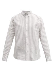 Rag And Bone Fit 2 Tomlin Striped Cotton Oxford Shirt Grey