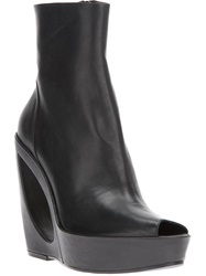 Ann Demeulemeester Cut Out Wedge Boot Black