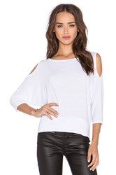 Michael Stars 3 4 Sleeve Cold Shoulder Tunic White
