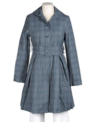 Noa Noa Full Length Jackets Slate Blue