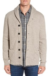 Grayers Men's 'Birch' Shawl Collar Button Cardigan Heather Oatmeal