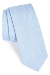 1901 'Eb' Silk And Cotton Dot Tie Blue