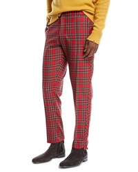 Ovadia And Sons Sideline Wool Track Trousers Red Pattern