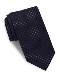 Brooks Brothers Neat Dotted Silk Tie Navy